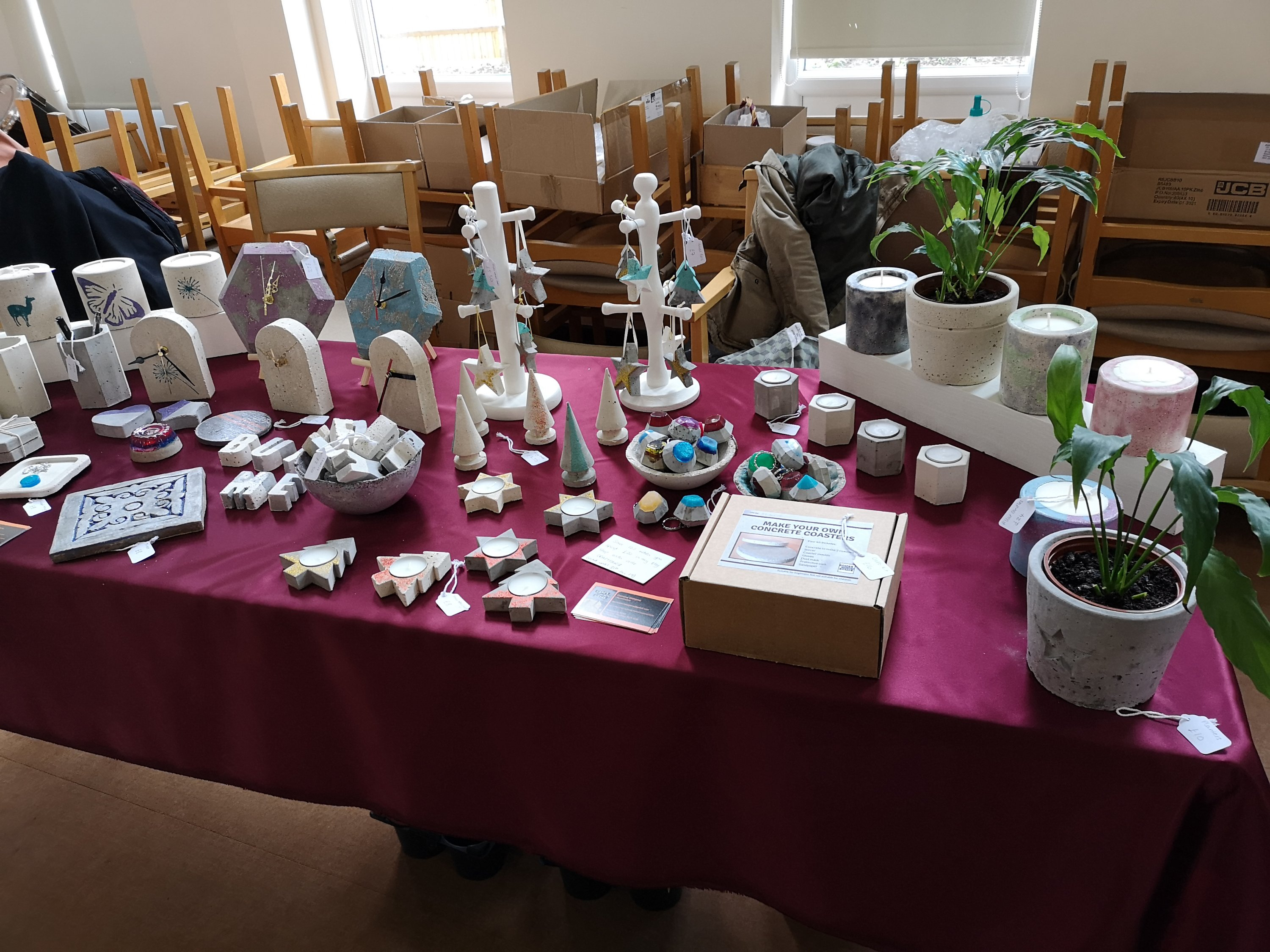 Gem's Concrete Gems craft fair stall display